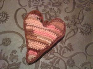 Hand-knit Heart