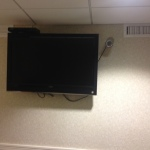 Viewing and being viewed: A large screen TV and a camera to monitor my sleep positions in the Sleep Lab.
